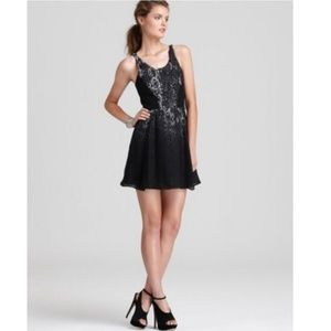 Parker Black Python Print Silk Cocktail Dress